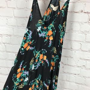 LoveStitch Black Floral Maxi Dress